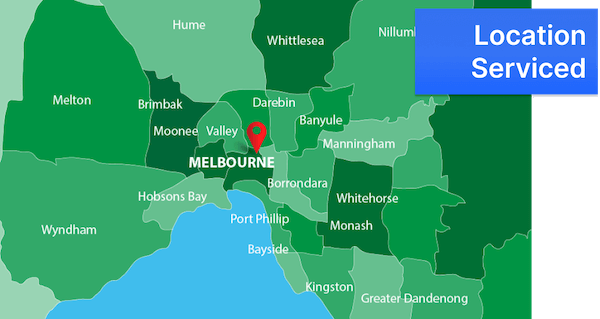 Melbourne's location serviced